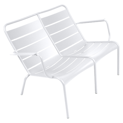 Luxembourg Duo Low Armchair - COTTON WHITE
