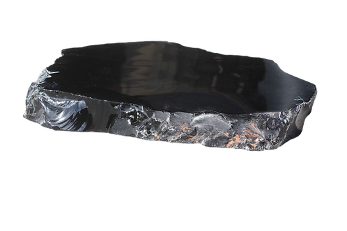 Black Obsidian Crystal Slab
