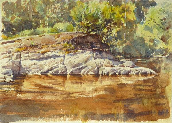 _Windberg_Moons Crossing watercolour_15x