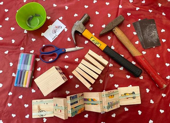 ערכת נגרות - משחק עץ קליפ קלאפ