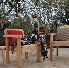 סדנה לבניית כסא לחצר
