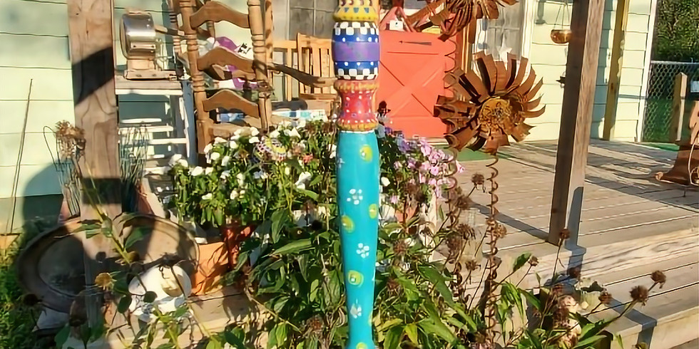 Painted Hanging Garden Totem 052820