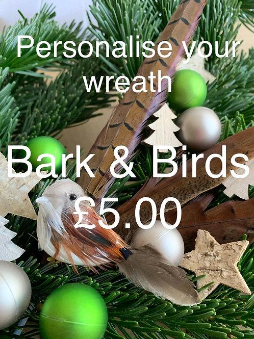 Wreath Sundries Kit: Bark & Birds