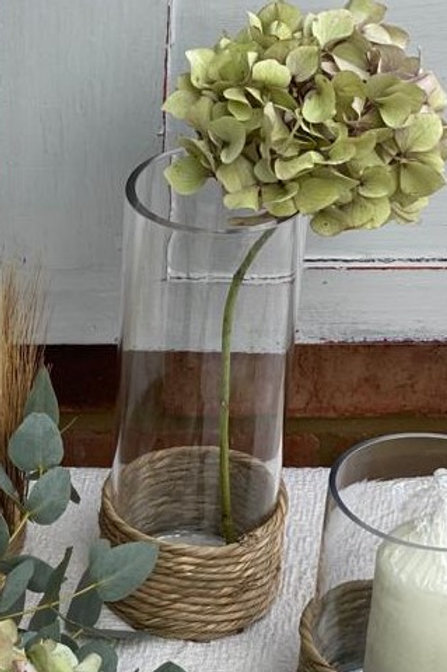 Glass Vase& Rope Medium