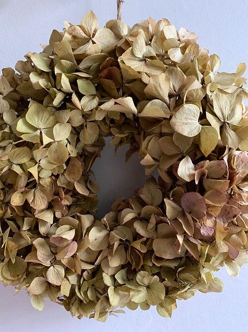 Wreath: Dried Hydrangea