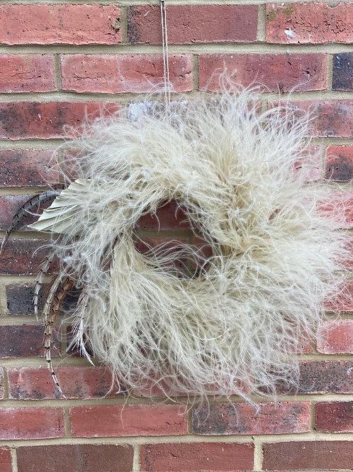 Wreath: Stipa Grass & Pheasant Feather