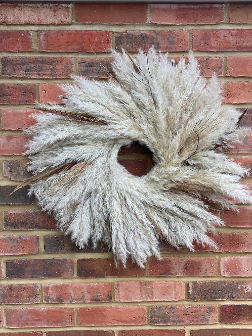 Wreath: Pampas & Pheasant Feather