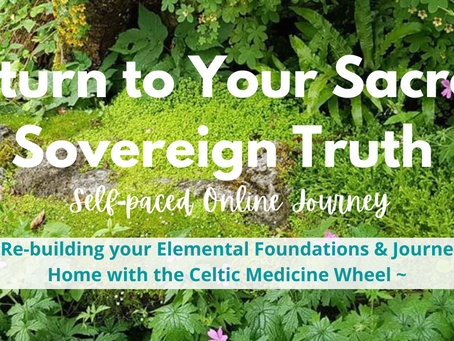 {Samhain Special Sale!} Self-paced Online Healing Journey Around the Celtic Medicine Wheel to Return