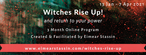 Witches Rise Up Horizontal Banner for Fa