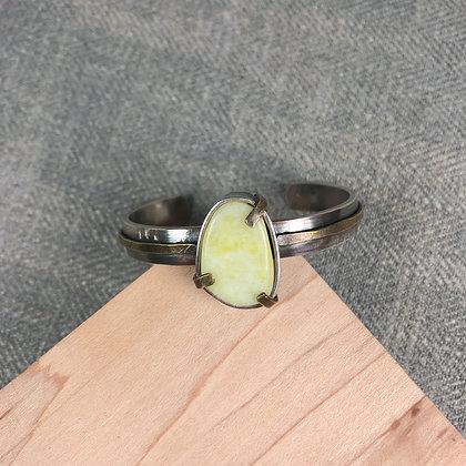 Industrial stones bracelet #2 Lime jade
