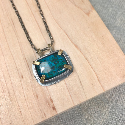 Industrial stones pendant #7 Howlite