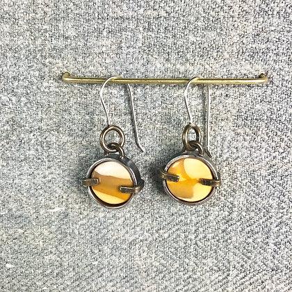 Industrial stone earring #9 Mookite