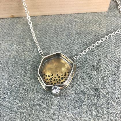 shadow pendant withcubic zirconia