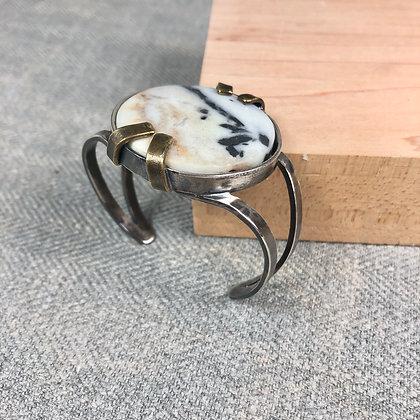 Industrial stones bracelet #9 Amazonite