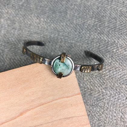 Industrial stones bracelet #3 Peruvian Opal