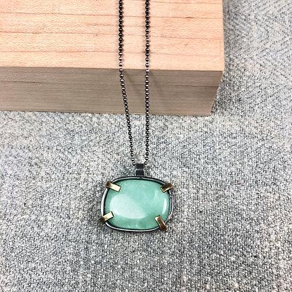 Industrial stones pendant #1 Amazonite