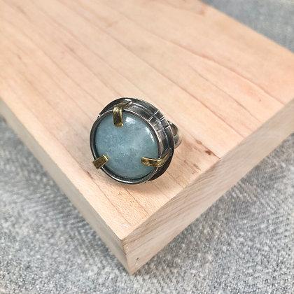 Industrial stones ring #1 Aquamarine