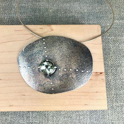 big stone with prasiolite