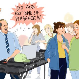 """Illustration pour """"La vie de nos ados""""- Editions Mame"""