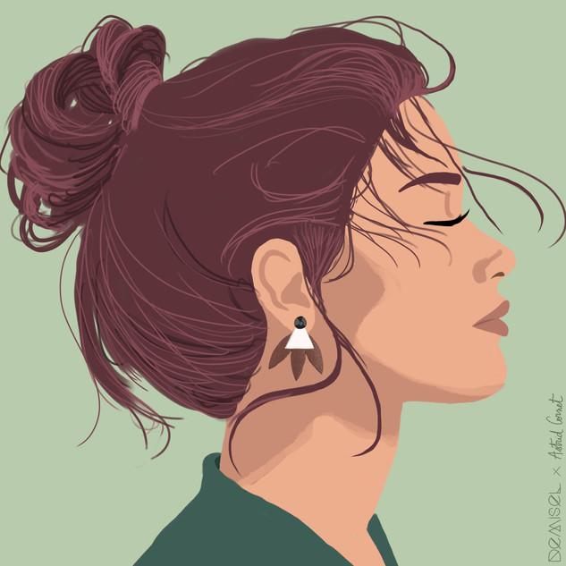 Illustration pour les boucles d'oreilles DEMISEL