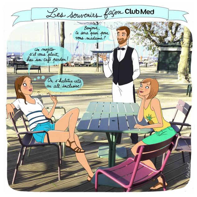 illustration pour la collab' instagram: Club med et Hello Famille