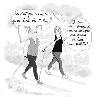 """Illustrations pour le """" Guide de survie de la Soixantaine - Editions Leducs"""