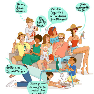 "Extrait de ma BD ""Vacances entre amis"" - (Marabulles)"