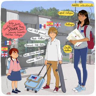 plaquette web pour le Lycée français de Séville