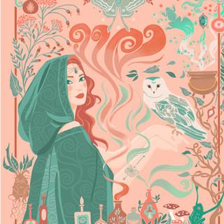 Illustrations pour des cartes à gratter sur le thème Magie et Sorcellerie - Editions Playbac