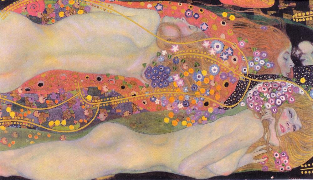Wasserschlangen II - Gustav Klimt