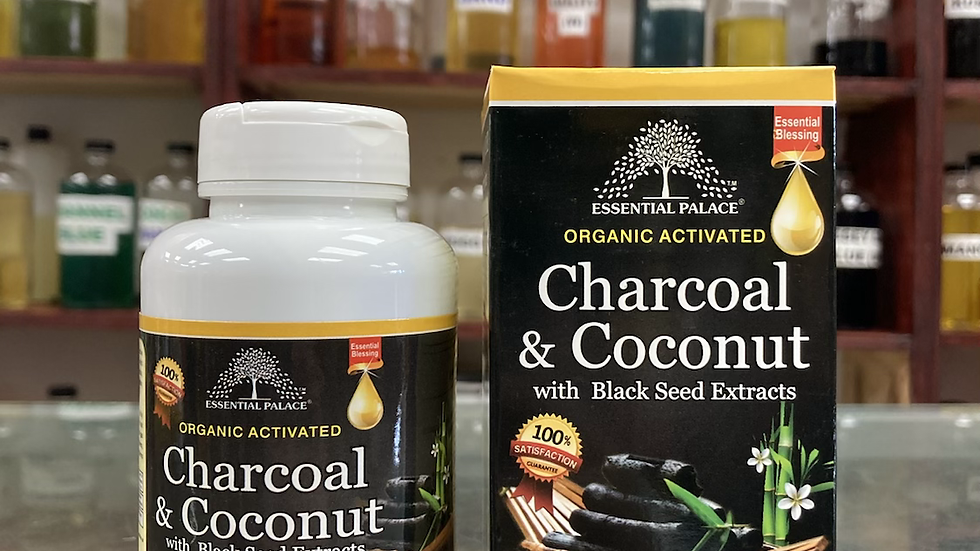 Organic Charcoal & Coconut with Black Seed Extracts Capsules