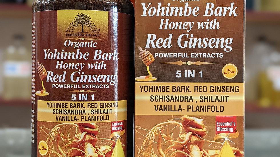 Organic Yohimbe Bark Honey with Red Ginseng