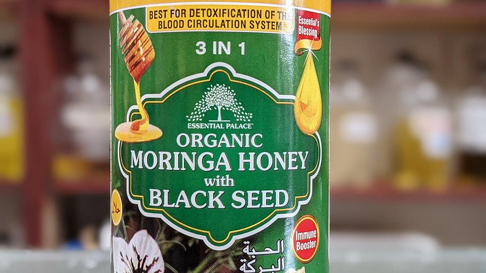Organic Moringa Honey with Black Seed