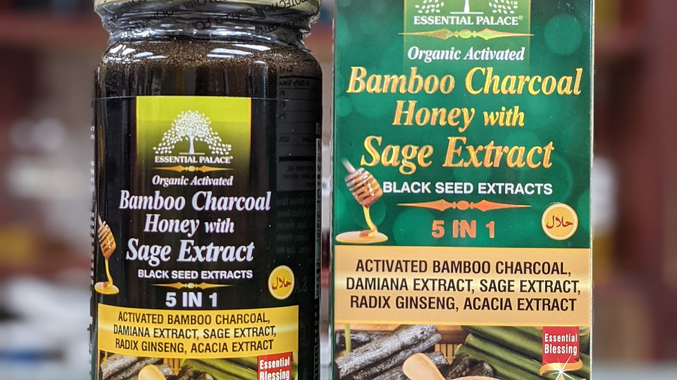 Organic Bamboo Charcoal Honey with Sage Extract