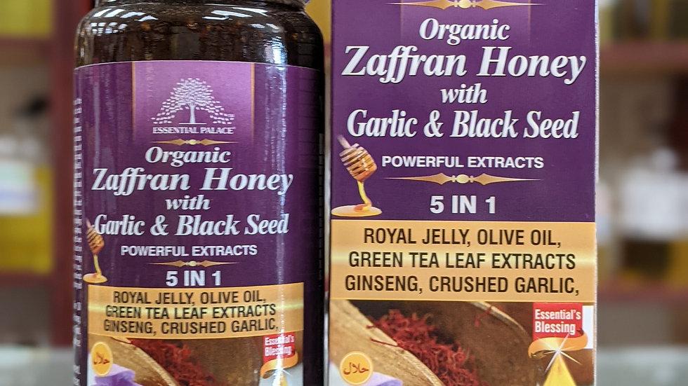 Organic Zaffran Honey with Garlic & Black Seed