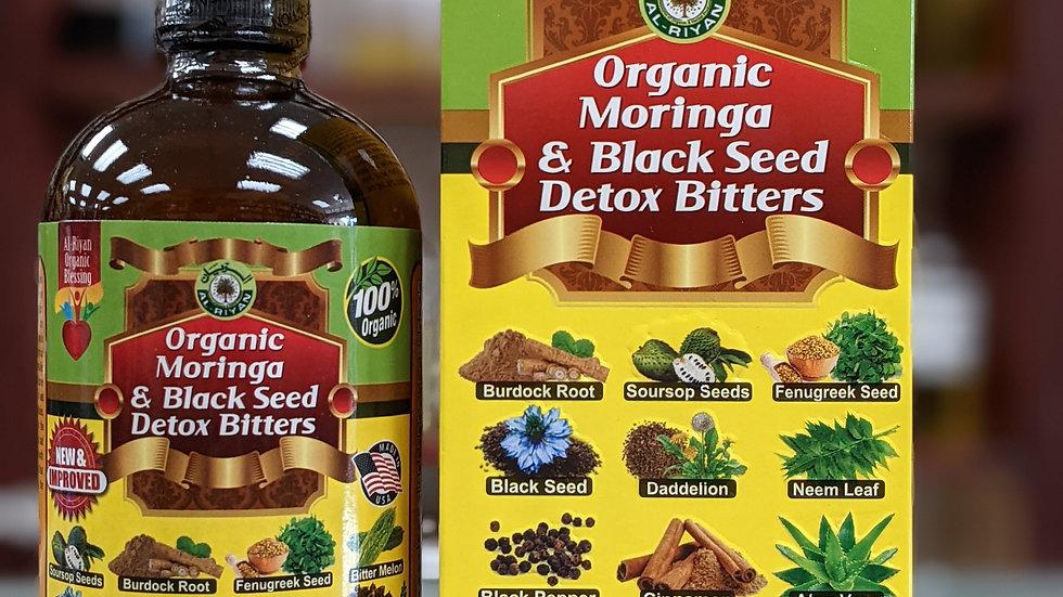 Organic Moringa & Black Seed Detox Bitters 16 oz