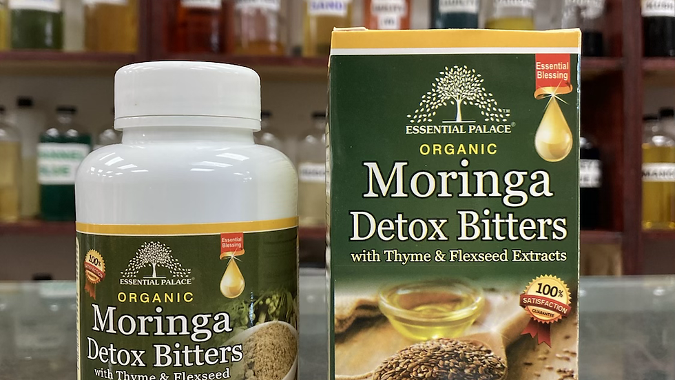 Organic Moringa Detox Bitters with Thyme & Flaxseed Extracts Capsules