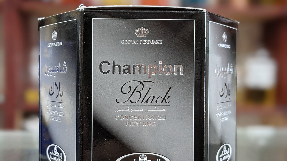 Champion Black Concentrated Perfume(Roll On) 6x6m