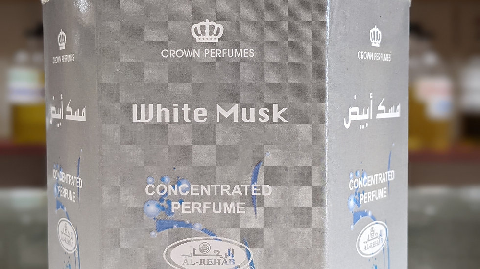 White Musk Concentrated Perfume(Roll On) 6x6mL