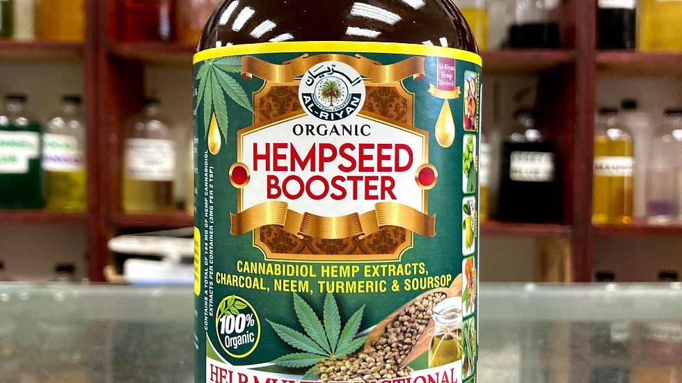 Organic Hempseed Booster Cannabidiol, Hemp Extracts, Charcoal, Neem, Tumeric,