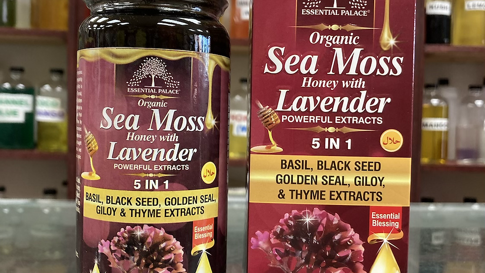 Organic Sea Moss Honey with Lavender 5 in 1 Extracts