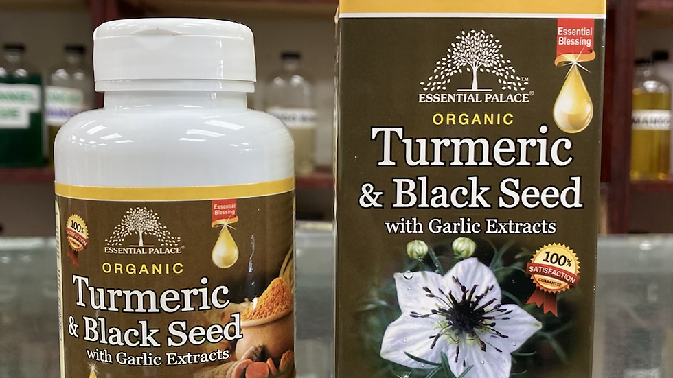 Organic Tumeric & Black Seed with Garlic Extracts Capsules