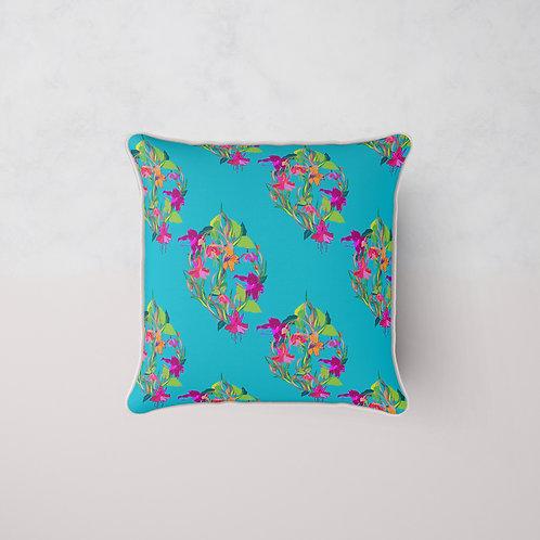 Fuchsia Lilly Cushion - Butterfly Silk