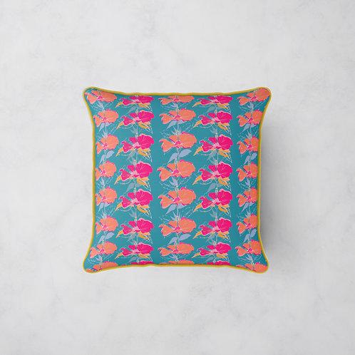 Summer Jazz Cushion - Hibiscus at Dusk