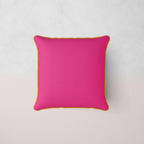 Colour Match Chenille Cushion - Fuchsia Sun
