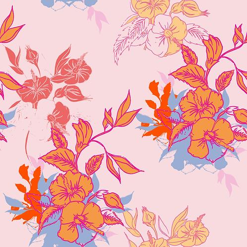 Garden of Hibiscus, Moonlit Hibiscus