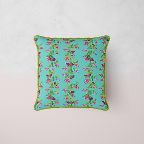 Fuchsia La Vine Cushion - Maya Azure