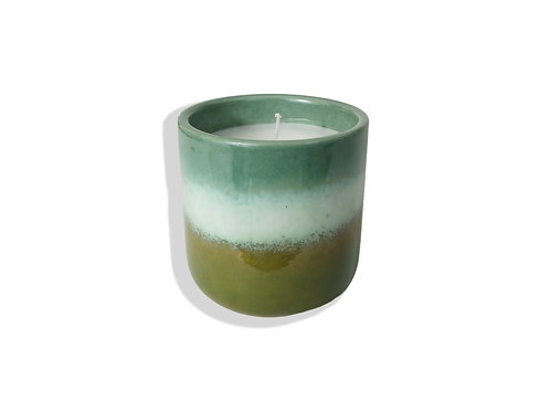 Porcelain Eucalyptus Candle Pot