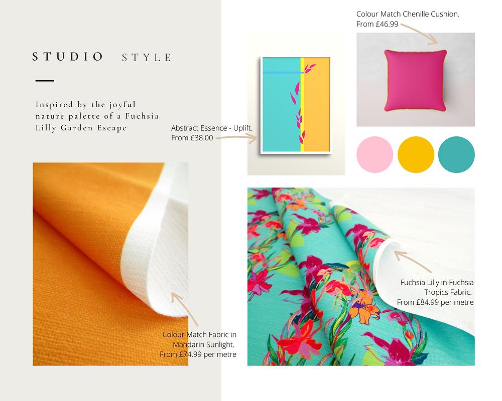 Frantasia Haze Colour Match. Luxury Fabric. Interior Fabric. Harrogate. Interior Design. Interior Inspiration