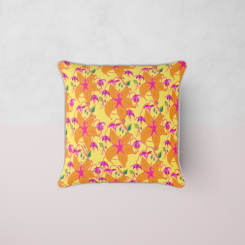 Lilia Bloom Cushion - Lemon Bumblebee